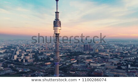 television tower Ostankino on sunset Stock photo © Paha_L