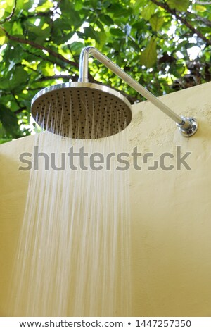 Stock photo: shower for rinsing after swimming