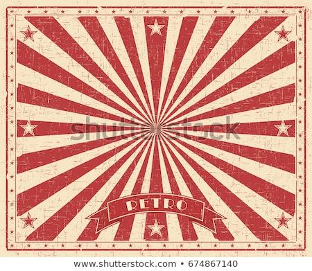 цирка Vintage красный плакат вечеринка Сток-фото © tintin75