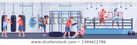 Pierścień polu wnętrza ściany fitness zdrowia Zdjęcia stock © Paha_L
