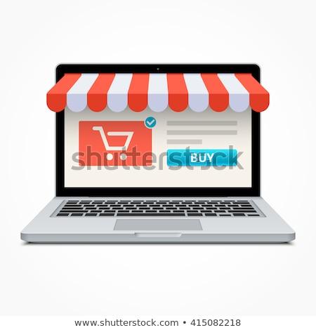 Compras on-line moderno laptop tela diferente escritório Foto stock © tashatuvango