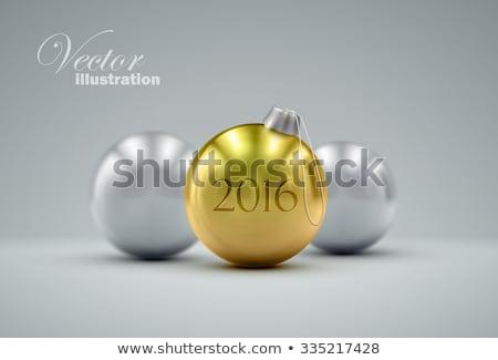 altın · gerçekçi · vektör · Noel · 2016 - stok fotoğraf © rommeo79