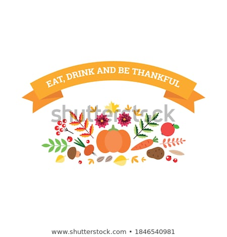 thanksgiving day card template eps 8 stock photo © beholdereye
