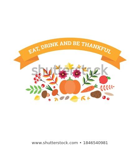 Thanksgiving day card template. EPS 8 Stock photo © beholdereye