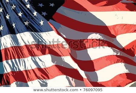 nagybácsi · karakter · felirat · tart · függőleges · hazafias - stock fotó © lightsource