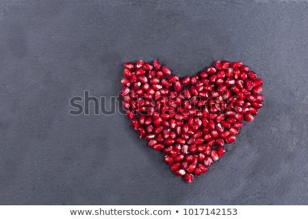 Rosso ruby cuore buio lucido isolato Foto d'archivio © MaxPainter