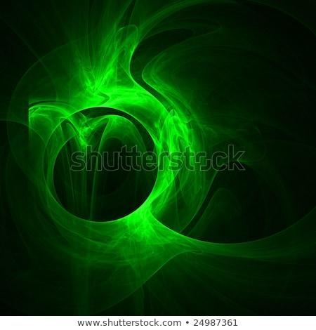 Fractal obraz zielone zasłona streszczenie czarny Zdjęcia stock © Mikko