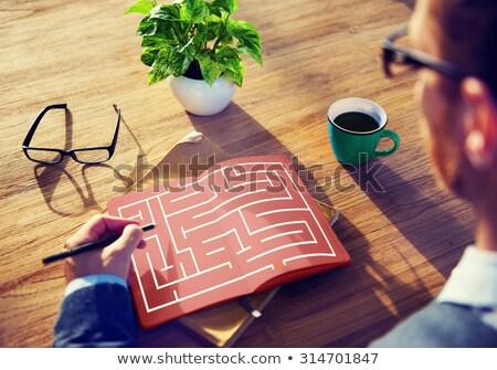 Labirinto strategia successo soluzione determinazione direzione Foto d'archivio © teerawit