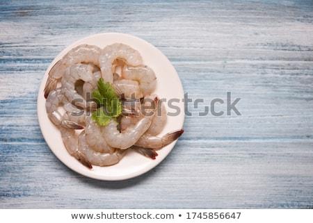 Soyulmuş limon sağlıklı deniz ürünleri Stok fotoğraf © Digifoodstock