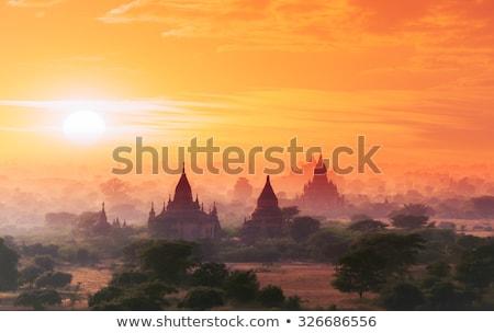 Antigo budista templo belo castelo Foto stock © ssuaphoto