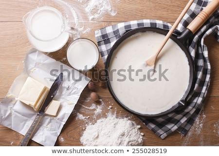 Preparing bechamel Stock photo © Digifoodstock