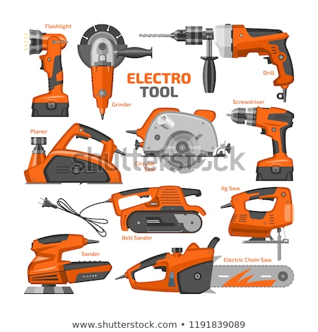 Flat design icon of electric planer Stock photo © angelp