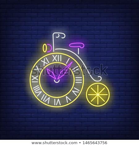 tiempo · desayuno · moderna · vector · colorido · ilustración - foto stock © jossdiim