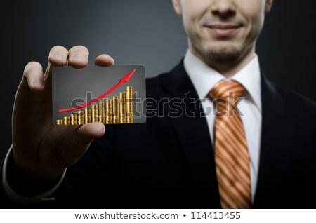 Progress Arrows Shows Business Graph And Advancement Stock photo © stuartmiles