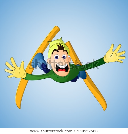 Boy Falling on Trick Ski Stock photo © 2tun