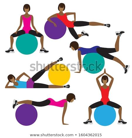 異なる 体操 実例 少女 スポーツ 背景 ストックフォト © bluering