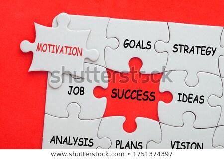 Bilmece kelime finanse puzzle parçaları ofis para Stok fotoğraf © fuzzbones0