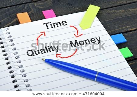 Czasu jakości ceny notatnika działalności biuro Zdjęcia stock © fuzzbones0
