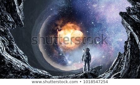 Planetas grupo branco sol fundo terra Foto stock © bluering
