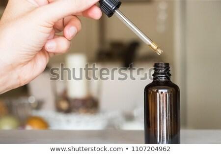 Fény barna orvosi üveg cseppentő illusztráció Stock fotó © bluering
