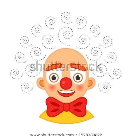 Cartella di lavoro clown bianco carta design studente Foto d'archivio © bluering