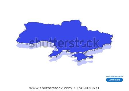Isometric map of Ukraine detailed vector illustration Stock photo © tkacchuk