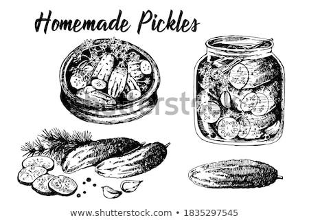black garlics in an earthenware bowl stock photo © nito