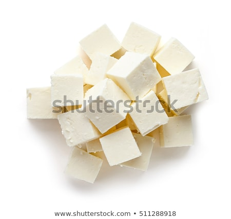 Cube of white cheese on cutting board Stock photo © ozgur