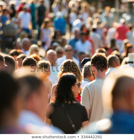 abstract blur crowd of people on street in rush hour stock photo © stevanovicigor