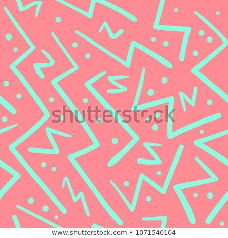 вектора бесшовный черно белые рисованной зигзаг диагональ Сток-фото © CreatorsClub