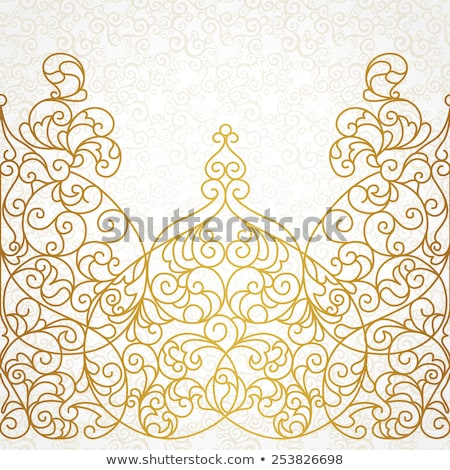 vector ornate frame in eastern style stock photo © cosveta