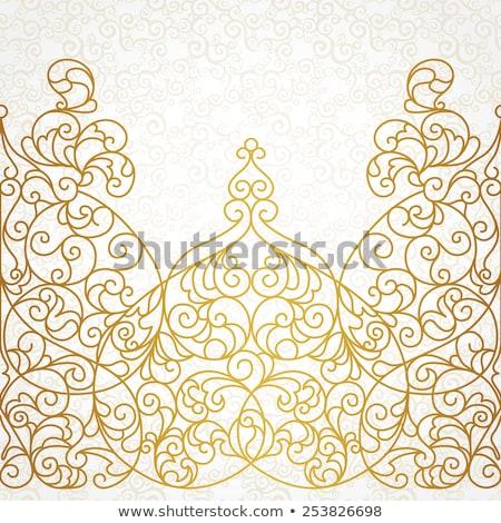 vector ornate frame in eastern style stock photo © cosveta