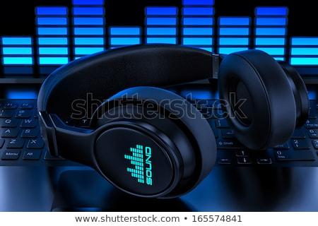 Illusztráció számítógép audio hangszóró szürke multimédia Stock fotó © robuart