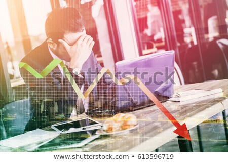 Business failure and depression graph Stock photo © 5xinc