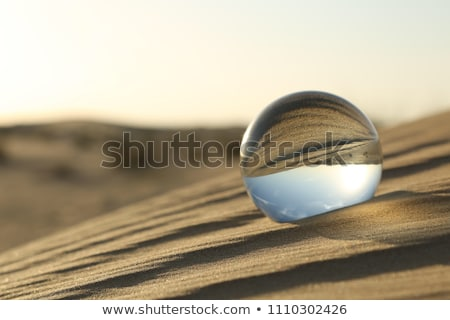 Manzara cam küre mavi gökyüzü kız ağaç Stok fotoğraf © AvHeertum