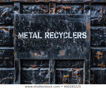 Scrap metal recycling dumpster. stock photo © gregepperson