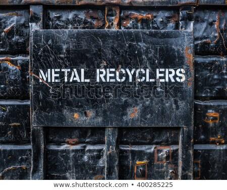 metal · recyklingu · na · zewnątrz - zdjęcia stock © gregepperson