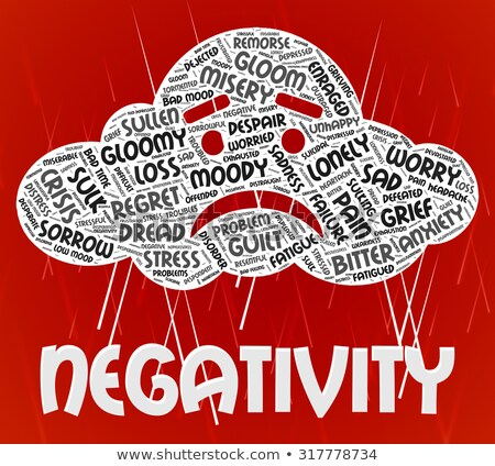 Negativity Word Indicates Negation Unresponsive And Rejecting Stock photo © stuartmiles
