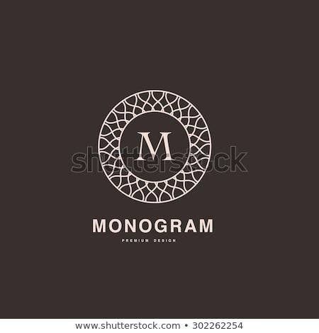 цветочный декоративный кадр границе монограмма логотип Сток-фото © SArts
