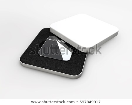 Hdd, mini hard disk drive, components 3d Illustration Stock photo © tussik