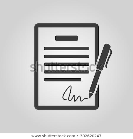 firma · contrato · imagen · empresario · mujer - foto stock © wad