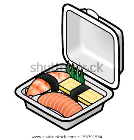 sushi · piatto · alimentare · pesce · ristorante · rosso - foto d'archivio © monkey_business