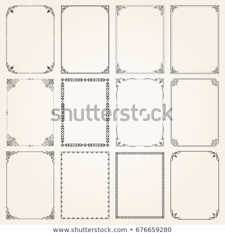 Decorative calligraphic frames in vintage style - vector set Stock photo © blue-pen