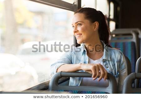 ônibus · interior · transporte · público · fundo · metrô · tráfego - foto stock © szefei