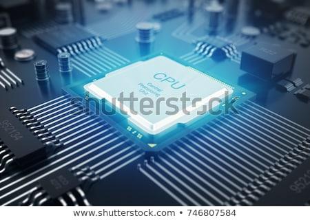 közelkép · processzor · processzor · izolált · fehér · nagy - stock fotó © devon