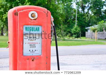Display of an antique American gas pump  Stock photo © bestmoose