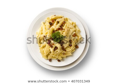 Zoete zuur spaghetti saus diner pasta Stockfoto © Digifoodstock