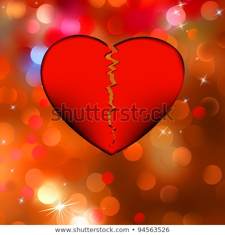 большой · красный · сломанной · сердце · белый - Сток-фото © beholdereye