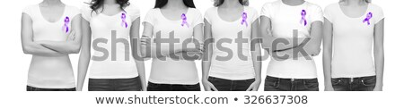 young woman with a purple ribbon stock photo © rob_stark