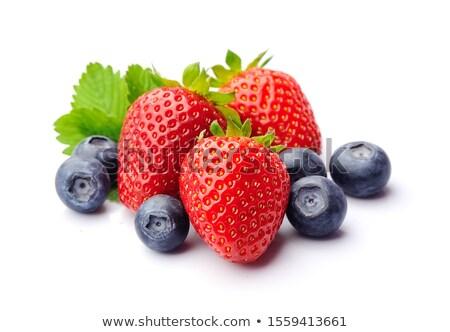 Bessen geïsoleerd witte Rood gezonde BlackBerry Stockfoto © M-studio